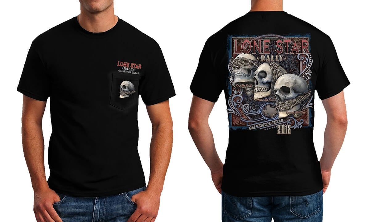 See No Evil S S Pocket Tee Black Lone Star Rally